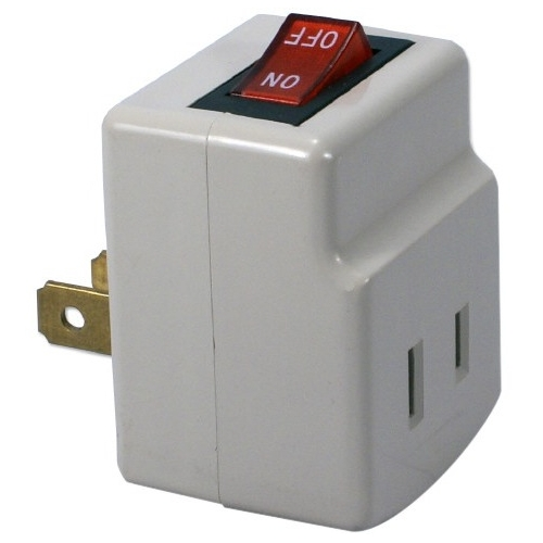 QVS Single-Port Power Adaptor with On/Off Switch PA-1P