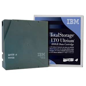 IBM LTO Ultrium 4 Labeled Tape Cartridge 95P4437