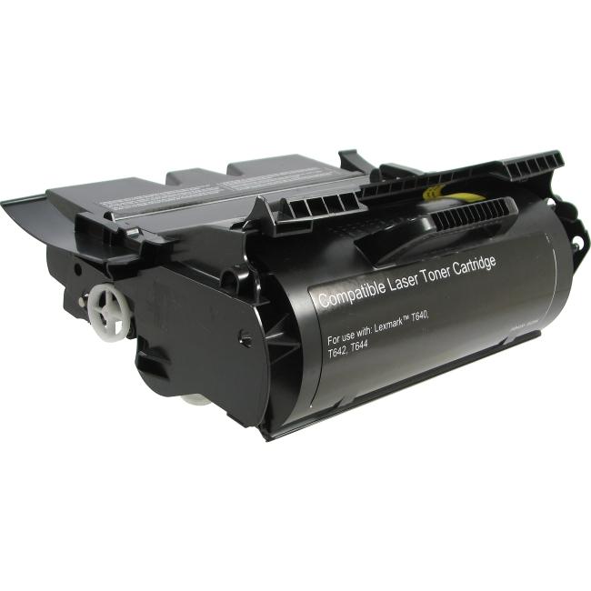 V7 Black Toner Cartridge (High Yield) For Lexmark T640, T640DN, T640DTN, T640N V7T640