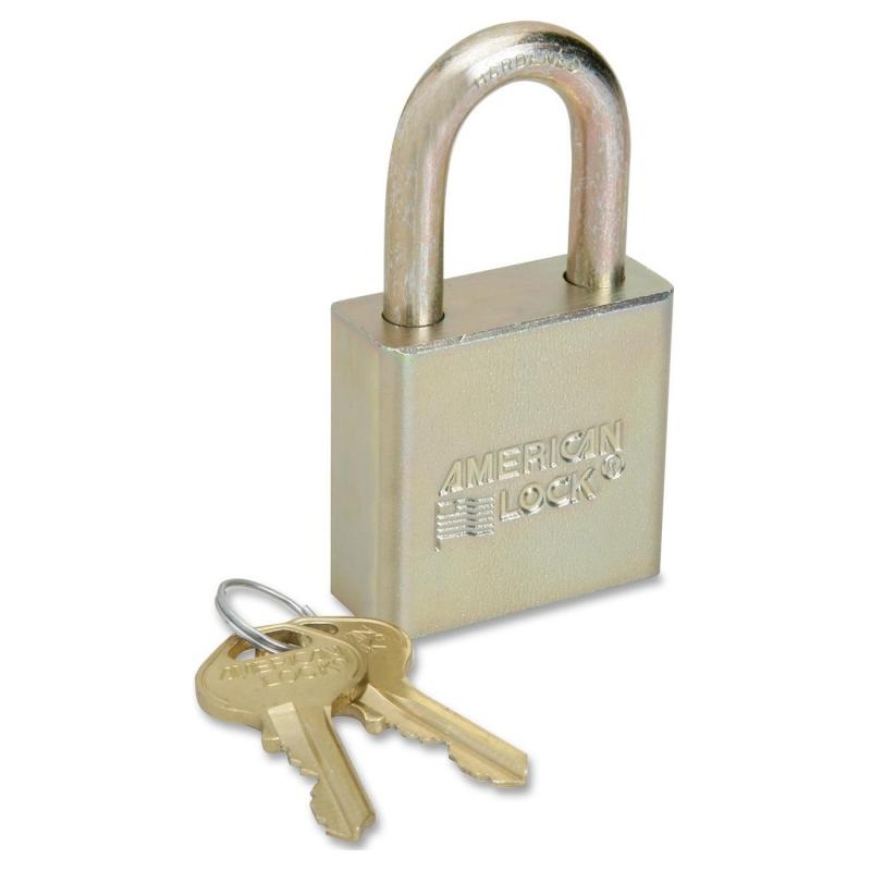 SKILCRAFT SKILCRAFT Solid Steel Case Padlock 5340015881036 NSN5881036