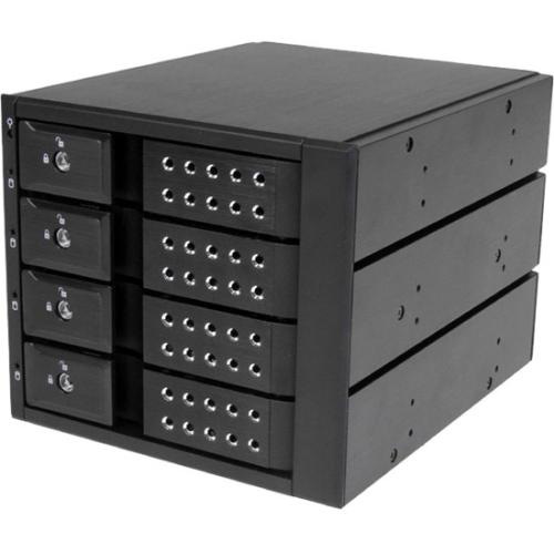 StarTech.com 4 Drive Trayless 3.5in SATA/SAS Mobile Rack HSB4SATSASBA