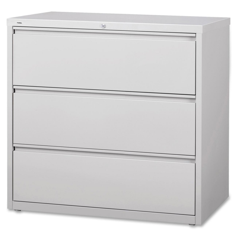 Lorell 3-Drawer Lt. Gray Lateral Files 88032 LLR88032