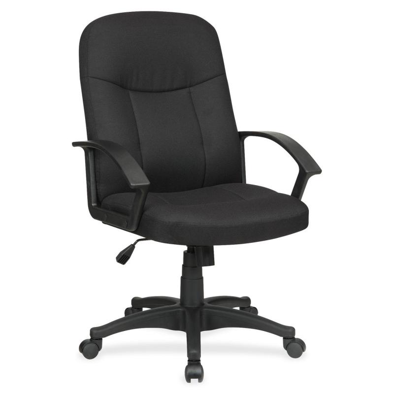 Alera Genaro Series Guest Chair Black Leather Sled Base
