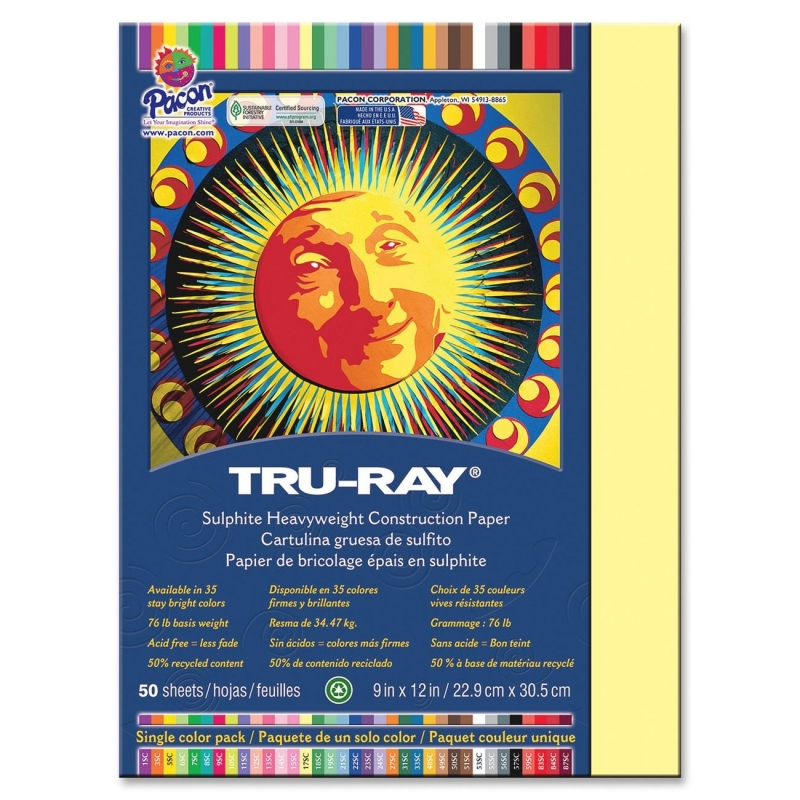 Tru-Ray Sulphite Construction Paper 103014 PAC103014