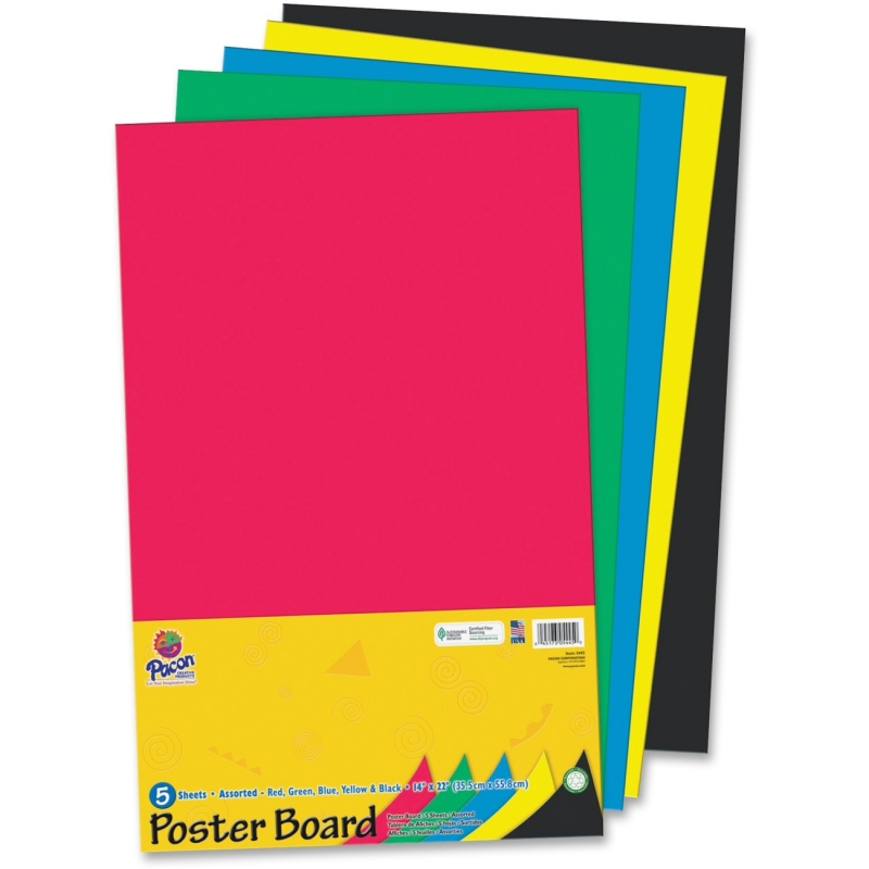 Pacon Half-size Sheet Poster Board 5445 PAC5445