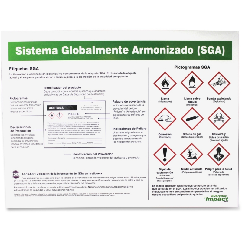 Impact Products GHS Label Guideline Spanish Poster 799078 IMP799078