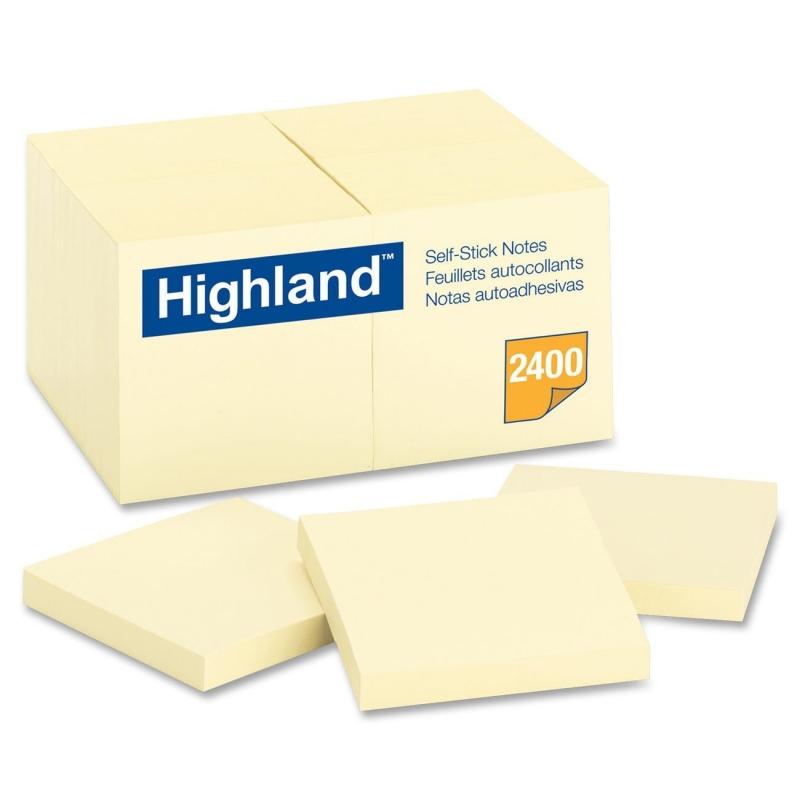 Highland Self Sticking Note 654924PK MMM654924PK