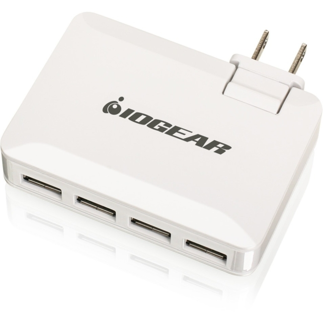 Iogear GearPower QuadSmart USB 4.2A Wall Charger GPAW4U4