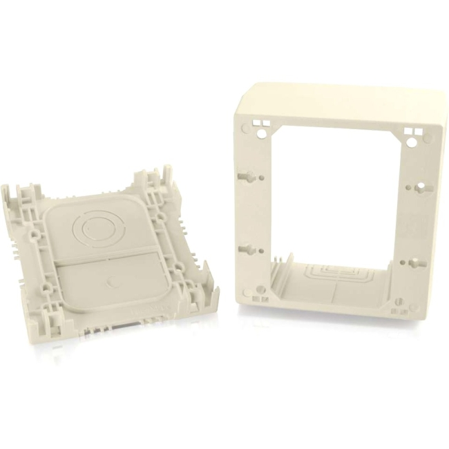 C2G Wiremold Uniduct Double Gang Extra Deep Junction Box Ivory 16042