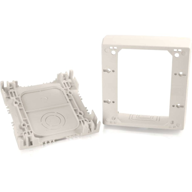 C2G Wiremold Uniduct Double Gang Deep Junction Box Fog White 16134