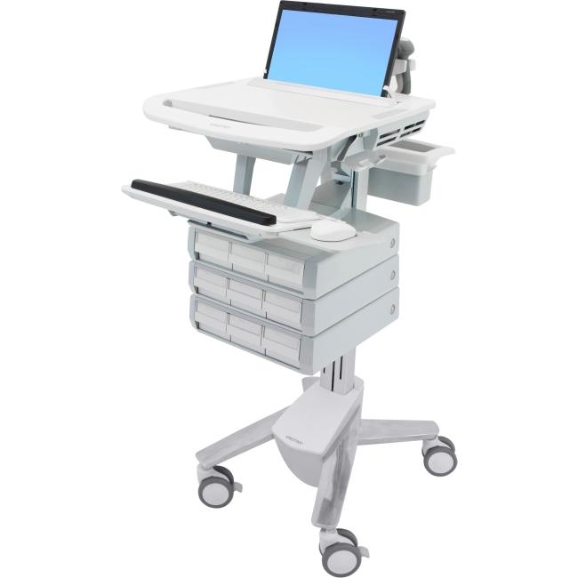 Ergotron StyleView Laptop Cart, 9 Drawers SV43-1190-0 SV43
