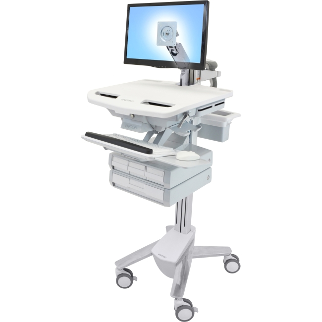 Ergotron StyleView Cart with LCD Arm, 4 Drawers SV43-1240-0 SV43