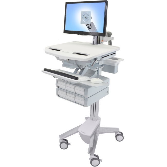 Ergotron StyleView Cart with LCD Arm, 6 Drawers SV43-1260-0 SV43
