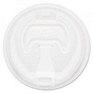 Dart Optima Reclosable Lid, 12-24oz Foam Cups, White, 100/Bag DCC16RCLPK 16RCL
