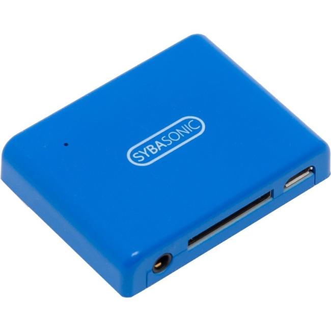 SYBA Multimedia 30Pin Analog Audio Speaker Dock Bluetooth Music Receiver - Blue SD-ADA23054