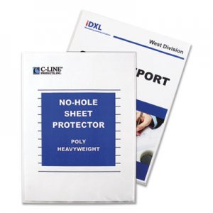 "C-Line Top-Load No-Hole Polypropylene Sheet Protector, Heavyweight, Clear, 2"", 25/Box CLI62907 62907"