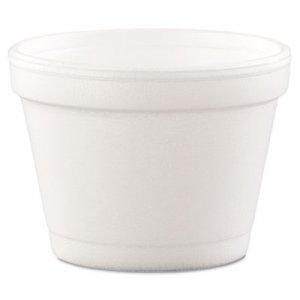 Dart Bowl Containers, Foam, 4oz, White, 1000/Carton DCC4J6 4J6