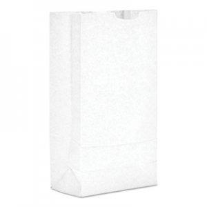 "Genpak Grocery Paper Bags, 35 lbs Capacity, #10, 6.31""w x 4.19""d x 13.38""h, White"