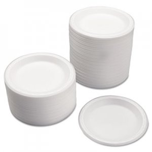 Genpak Celebrity Foam Plates, 7 Inches, White, Round, 125/Pack GNP80700 80700---