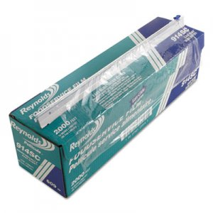 "Reynolds Wrap PVC Food Wrap Film Roll in Easy Glide Cutter Box, 18"" x 2000 ft, Clear RFP914SC 914SC"