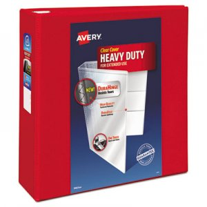 "Avery Heavy-Duty View Binder w/Locking 1-Touch EZD Rings, 4"" Cap, Red AVE79326 79326"