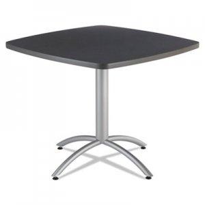 Iceberg CafAWorks Table, 36w x 36d x 30h, Graphite Granite/Silver ICE65618 65618