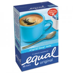Equal Zero Calorie Sweetener, 1 g Packet, 115/Box OFX20015445 20015445