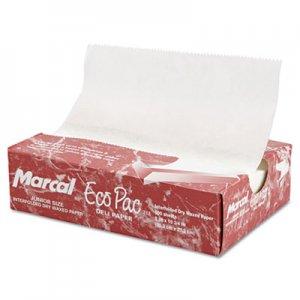 """Marcal Eco-Pac Natural Interfolded Dry Wax Paper, 8"""" x 10.75"""", 500/Box, 12 Boxes/Carton MCD5291 MCD 5291"""