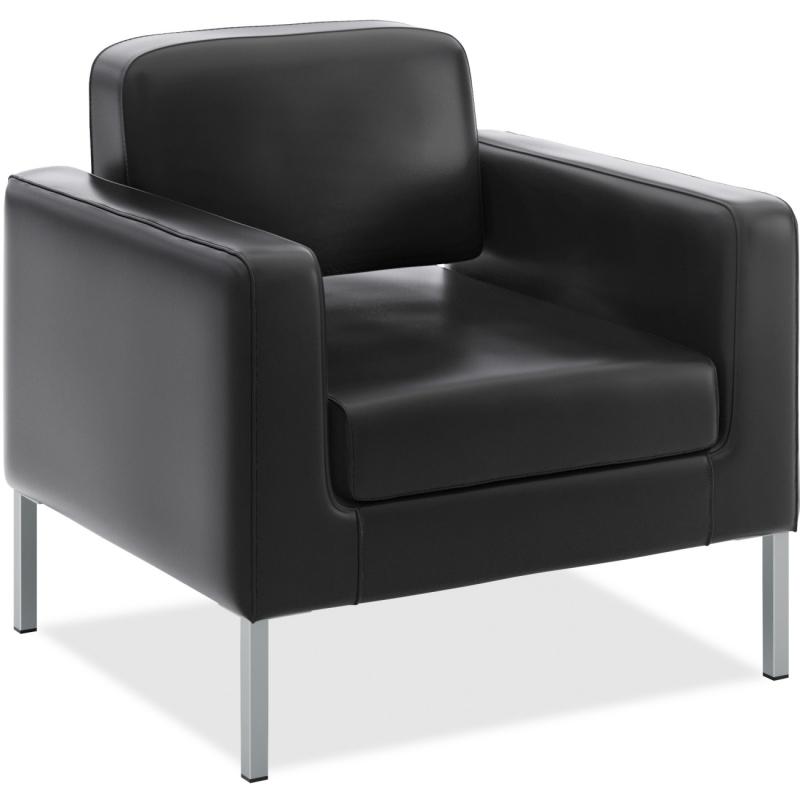 Basyx by HON Basyx by HON VL887 Leather Club Chair VL887SB11 BSXVL887SB11