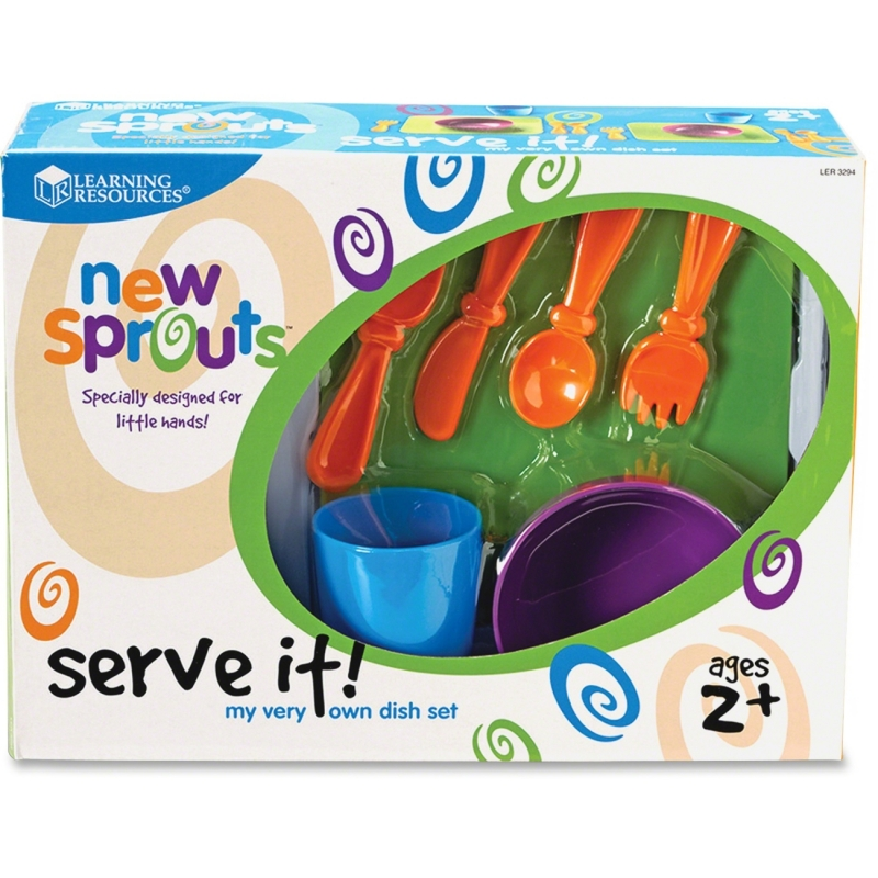 New Sprouts New Sprouts - Serve it! My Very Own Dish Set LER3294 LRNLER3294