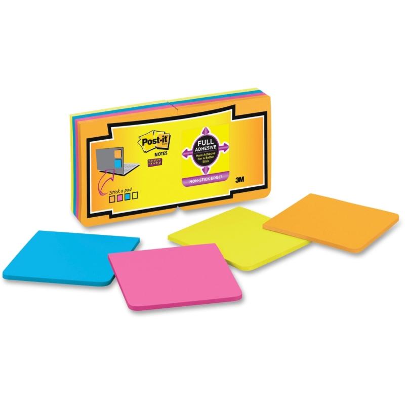 Post-it Super Sticky Full Adhes.Notes Fan 16 Pk F33016SSAU MMMF33016SSAU