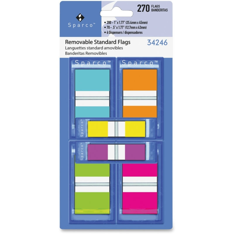 Sparco Assorted Pop-Up Flags Combo Pack 34246 SPR34246
