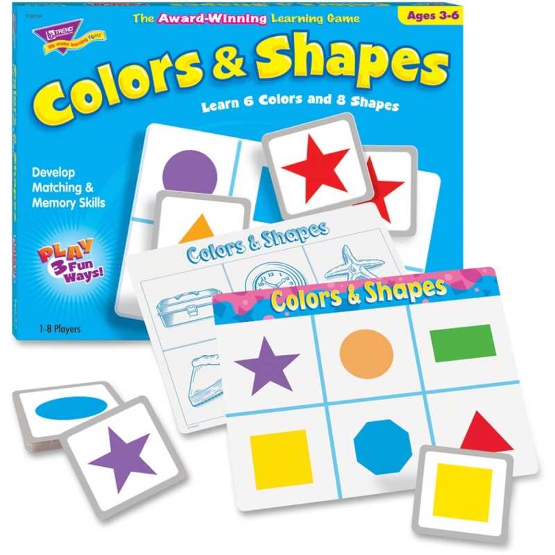 Trend Match Me Colors / Shapes Learning Game 58103 TEP58103