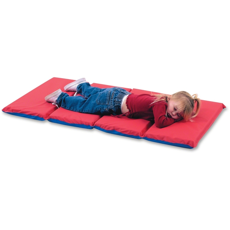 """Childrens Factory Red/Blue 4 Section, 2"""" Thick Infection Control Mat 400509RB CFI400509RB"""