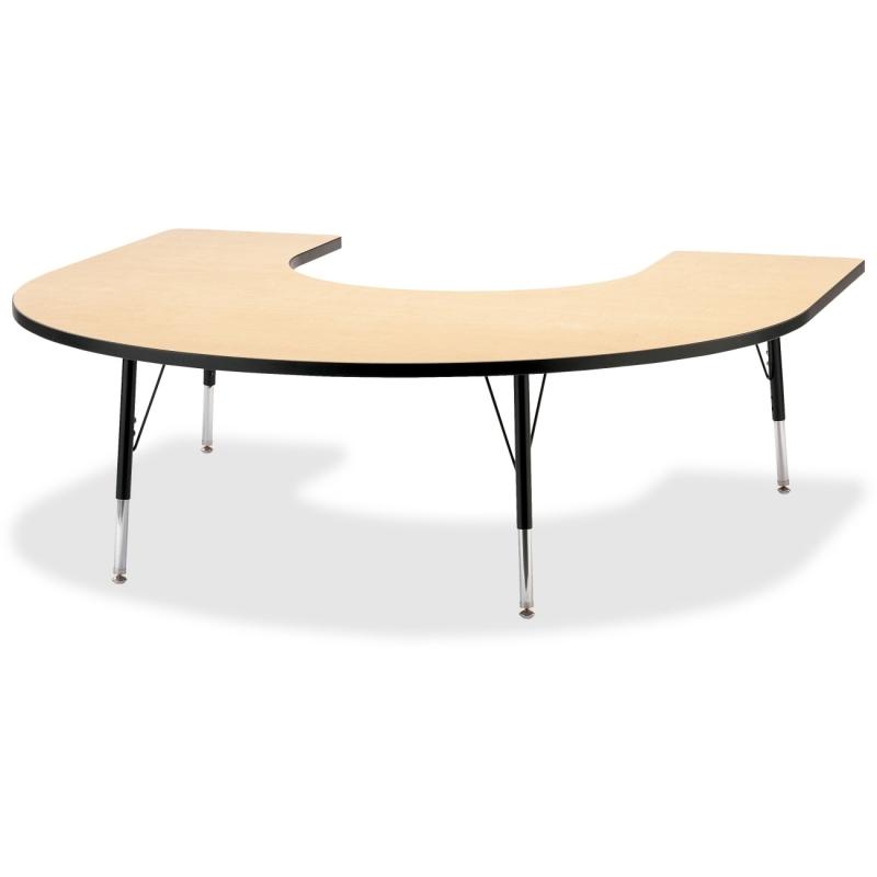 Berries Elementary Black Edge Horseshoe Table 6445JCE011 JNT6445JCE011