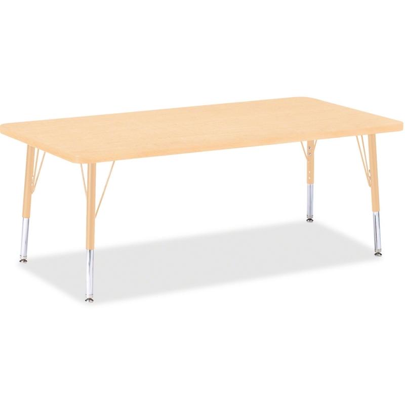 Berries Jonti-Craft Toddler Height Maple Prism Rectangle Table 6408JCT251 JNT6408JCT251