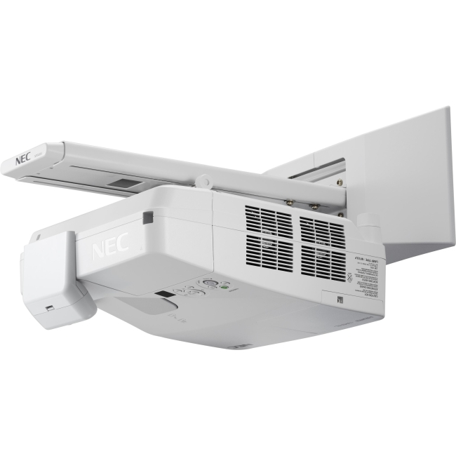 NEC Display 3500-Lumen Interactive Widescreen Ultra Short Throw Projector w/ Wall Mount NP-UM351WI-WK