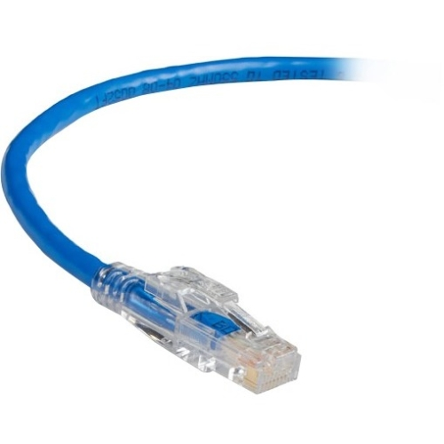 Black Box GigaBase 3 CAT5e 350-MHz Lockable Patch Cable (UTP), Blue, 10-ft. (3.0-m) C5EPC70-BL-10