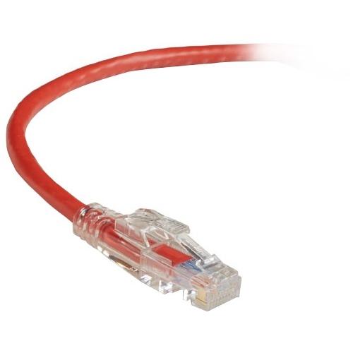 Black Box GigaBase 3 CAT5e 350-MHz Lockable Patch Cable (UTP), Red, 10-ft. (3.0-m) C5EPC70-RD-10