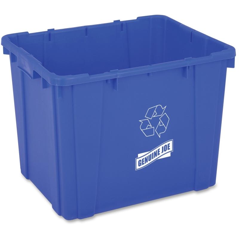 Genuine Joe 14-Gallon Recycling Bin 11582 GJO11582