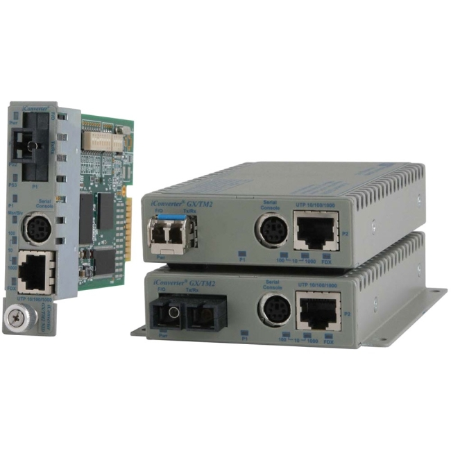 Omnitron 10/100/1000BASE-T UTP to 1000BASE-X Media Converter and Network Interface Device 8927N-1-AW 8927N-1