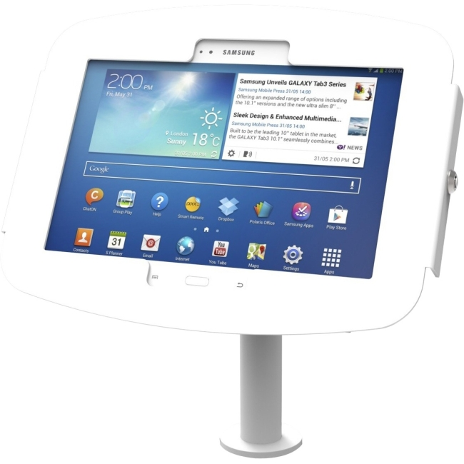 Compulocks The Pole Galaxy Tab Kiosk - Galaxy Tab Stand with Cable Management 920W480GEW
