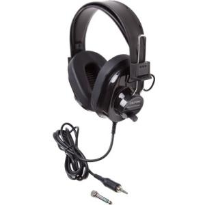 Califone Deluxe Monaural & Stereo Headphones Via Ergoguys 2924AVPS-BK