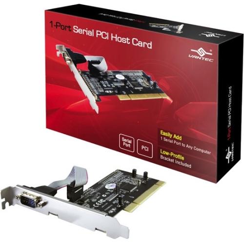 Vantec 1-Port Serial (RS-232) PCI Host Card UGT-PC10SR