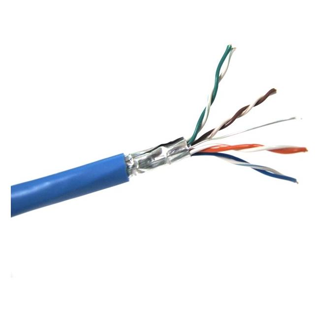 Weltron CAT5e Solid FTP CMP Cable (1000 ft) T2404L5EPSH-BL
