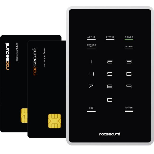 Rocstor Ruggedized Pocket-Size Portable External Storage Drive K20AS5-BK X7