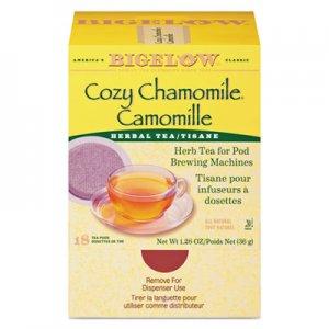Bigelow Cozy Chamomile Herbal Tea Pods, 1.90 oz, 18/Box BTC10906 RCB10906
