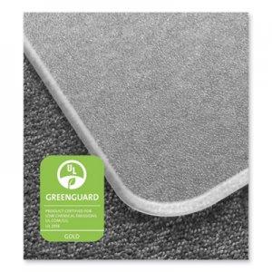 Floortex Cleartex MegaMat Heavy-Duty Polycarbonate Mat for Hard Floor/All Carpet, 46 x 60, Clear FLRECM121525ER ECM121525ER