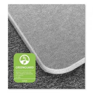 Floortex Cleartex MegaMat Heavy-Duty Polycarbonate Mat for Hard Floor/All Carpet, 46 x 53, Clear FLRECM121345ER ECM121345ER