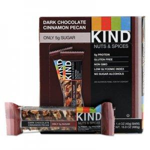 KIND Nuts and Spices Bar, Dark Chocolate Cinnamon Pecan, 1.4 oz, 12/Box KND17852 17852